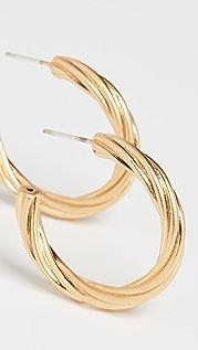 Madewell 扭褶圈式耳环