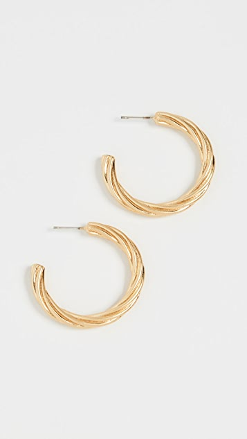 Madewell Twisted Hoop Earrings