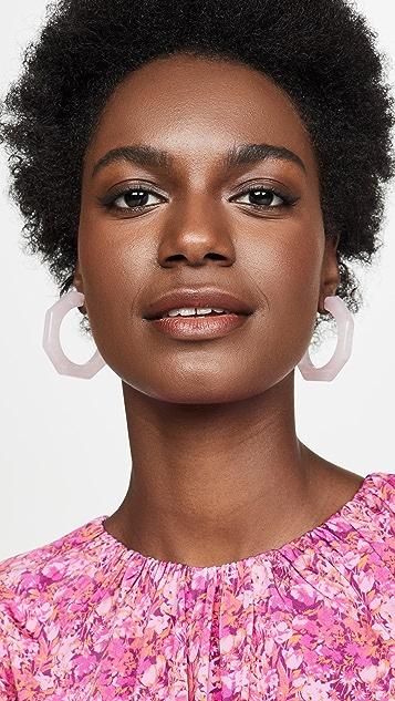Madewell Jane 醋酸纤维塑料几何圈式耳环