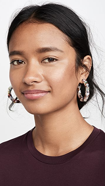 Madewell Jane Acetate Geo Hoop Earrings