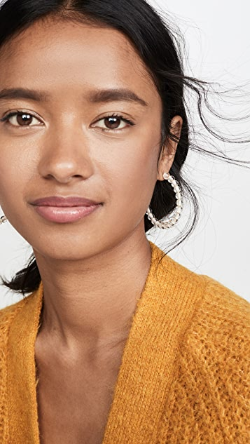 Madewell Acrylic Ball Hoops