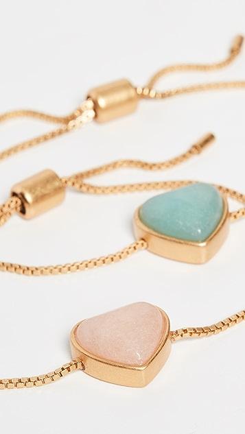 Madewell Stone Heart Friendship Bracelets