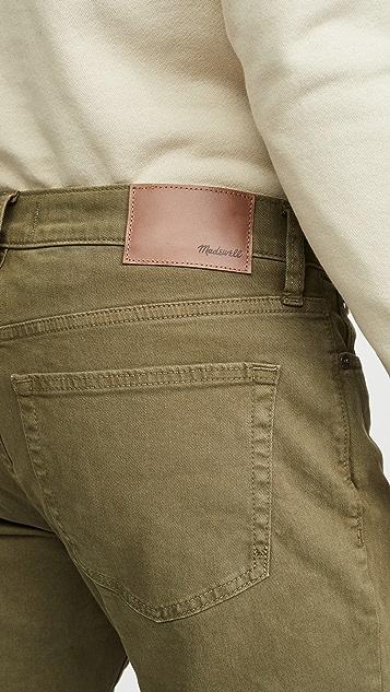 Madewell Garment Dyed Slim Denim