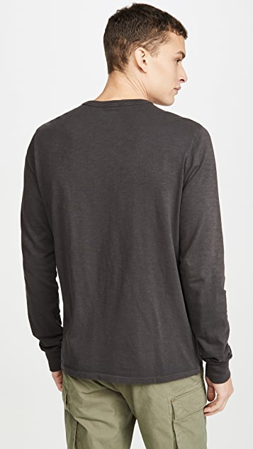 Madewell Bound Collar Long Sleeve T-Shirt