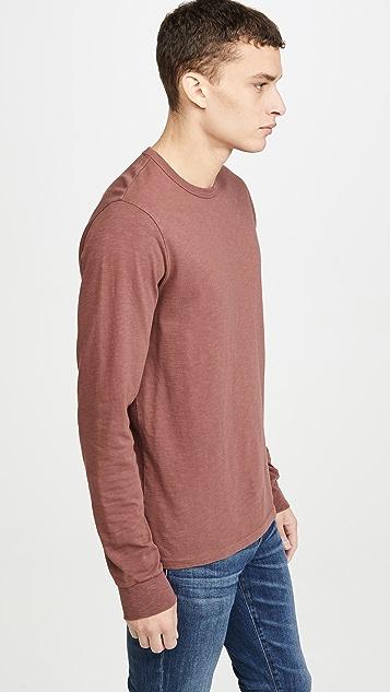 Madewell S Bound Collar Long Sleeve T-Shirt