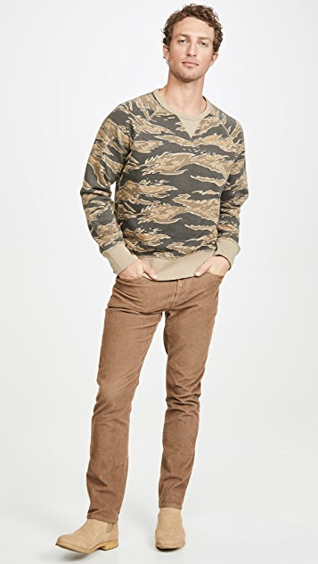 Madewell Tiger Camo Crew Neck Sweatshirt