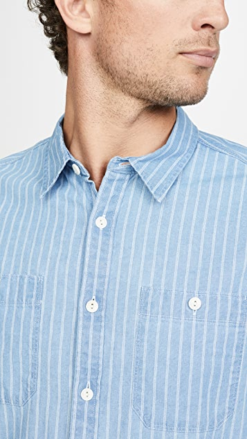 Madewell Striped Indigo Work Shirt
