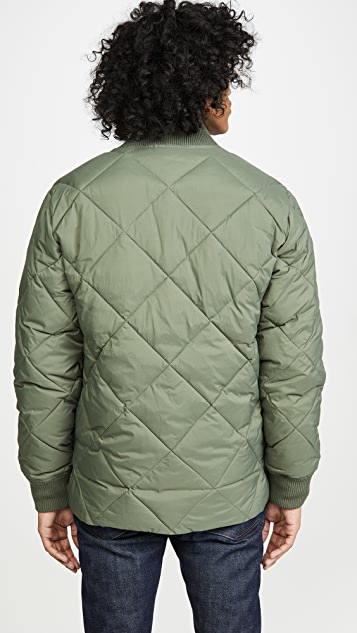 Madewell Diamond Quilted Bomber Jacket