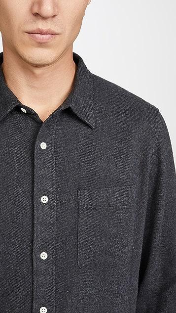 Madewell Solid Melange Flannel Shirt