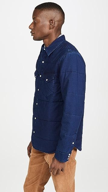 Madewell Indigo Quilted Shirt Jacket