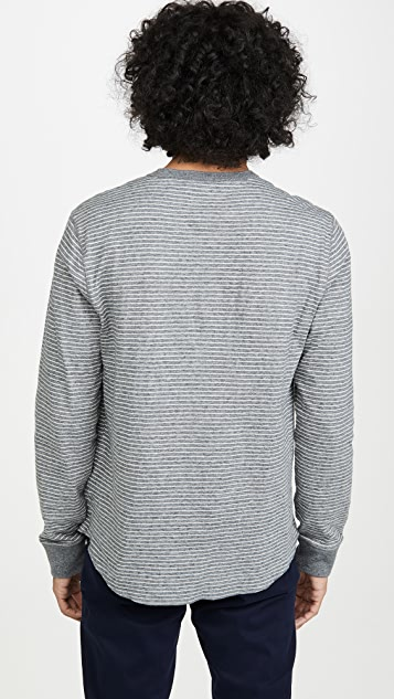 Madewell Duo Fold Striped Long Sleeve Henley
