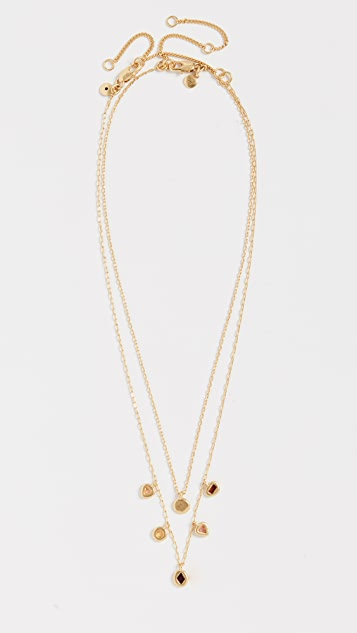 Madewell Glass Inlay Layered Necklace Set