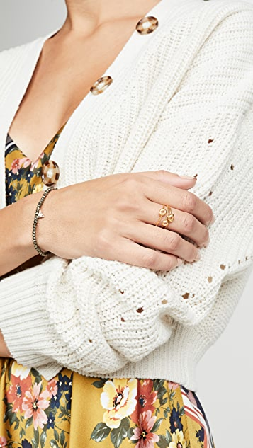 Madewell Glass Inlay Stacking Rings
