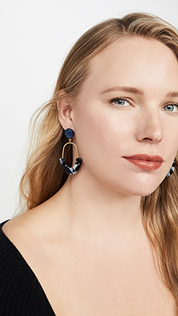 Madewell Agnes Acetate Drop Earrings