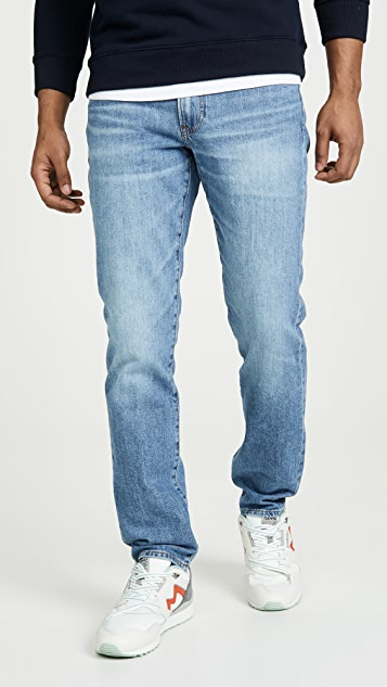 Madewell Straight Jeans In Adam Wash