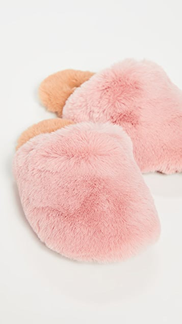 Madewell Furry Slippers