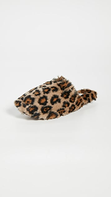 Madewell Furry Animal Slippers