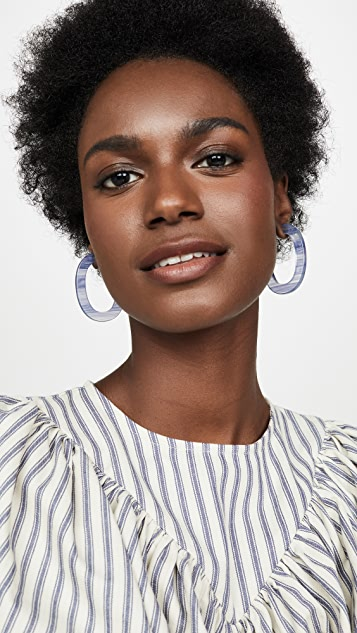 Madewell Stella Oval Resin Earrings