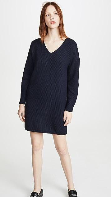 Madewell Короткое платье-свитер с V-образным вырезом