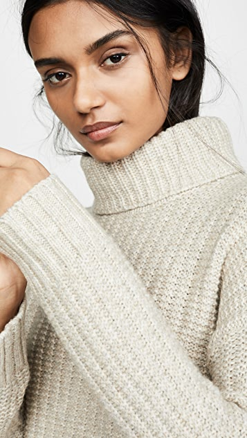 Madewell Kate Ribbed Turtleneck Sweater