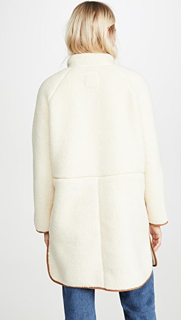 Madewell Sherpa Piped Coat