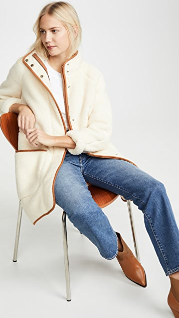 Madewell Coats Sherpa Piped Coat