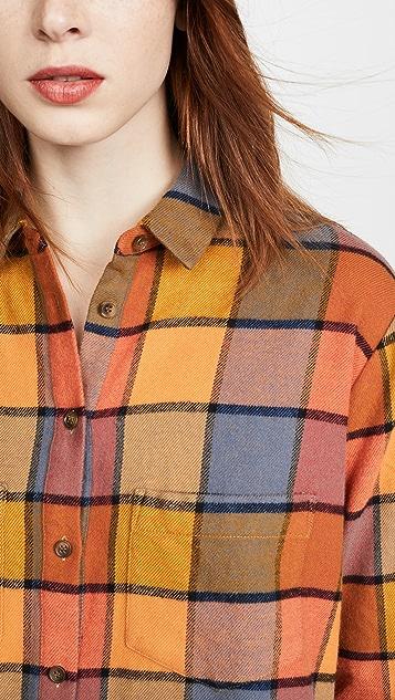Madewell Flannel Sunday Shirt in Emmy Plaid