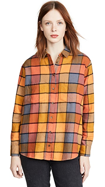 Madewell Flannel Sunday in Emmy 格子衬衫