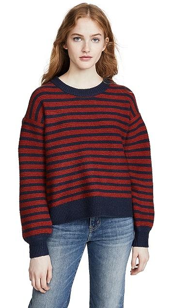 Madewell Stripe Grady 灯笼袖毛衣