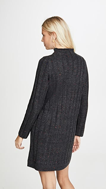 Madewell Mock Neck Mini Sweater Dress