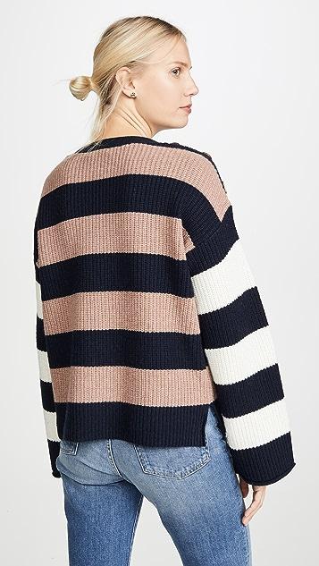 Madewell Dana Boatneck Stripe Mix Sweater