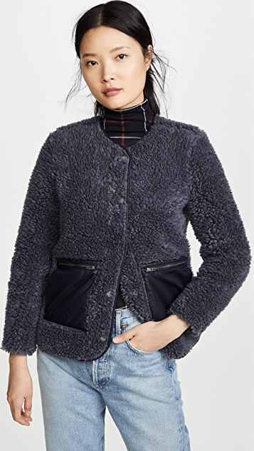 Madewell Coats Blue Sherpa Jacket
