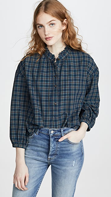 Madewell Ruffle Popover Button Down