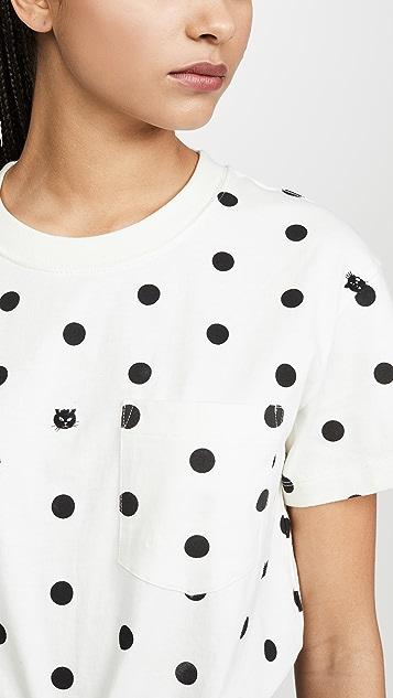 Madewell Tilda 猫咪圆点 T 恤