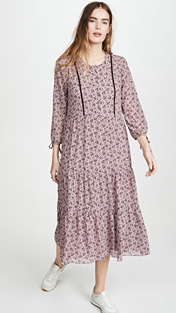 Madewell Tiered Midi Dress