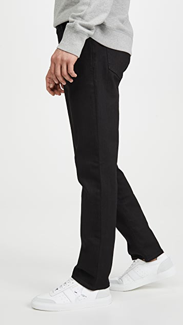 Madewell Straight Jeans In Stay Black