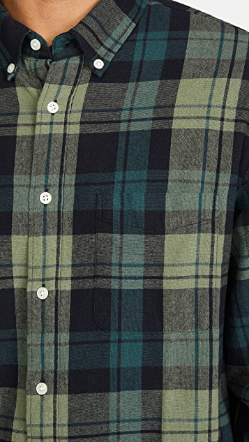 Madewell Long Sleeve Plaid Button Down