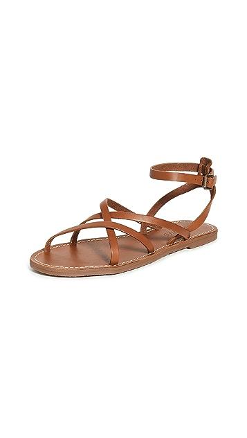 Madewell Boardwalk 细固定带凉鞋