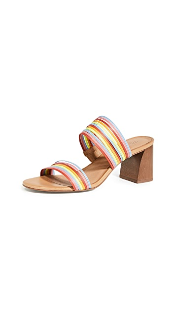 Madewell Baker Microstrap Heeled Slides