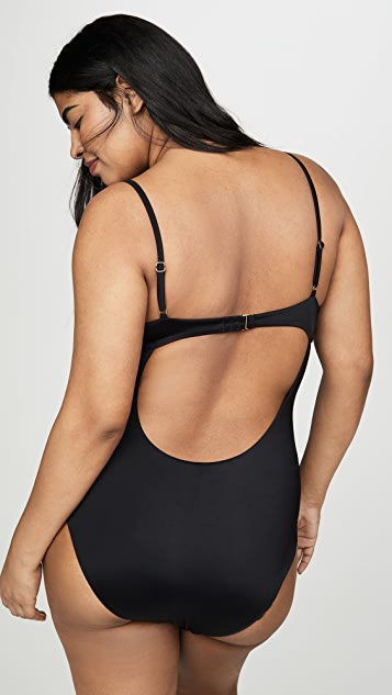 Madewell Second Wave Structured One Piece Swimsuit