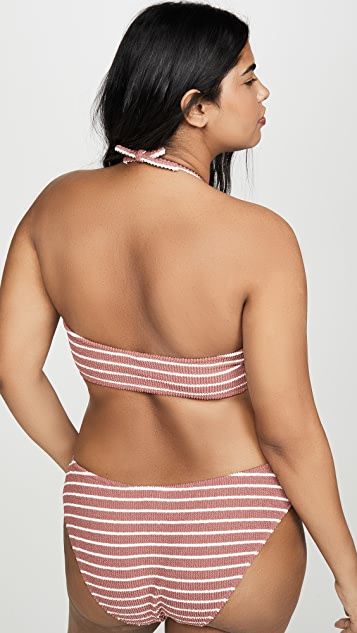 Madewell Cora Stripe Scrunch Bandeau Top