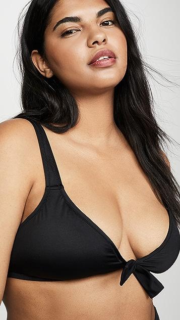 Madewell Isabella Tie Front Bikini Top