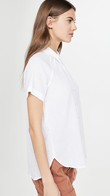 Madewell Raglan Short Sleeve Button Down