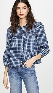 Madewell 西部风格长袖系扣衬衫