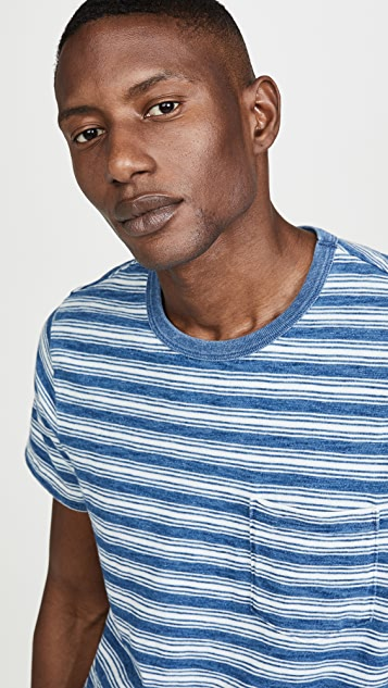 Madewell Crew Neck T-Shirt Indigo Stripe