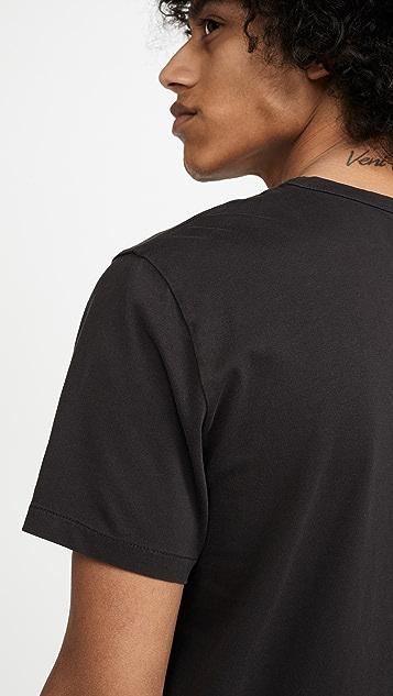 Madewell 20's Short Sleeve Bound Collar Tee