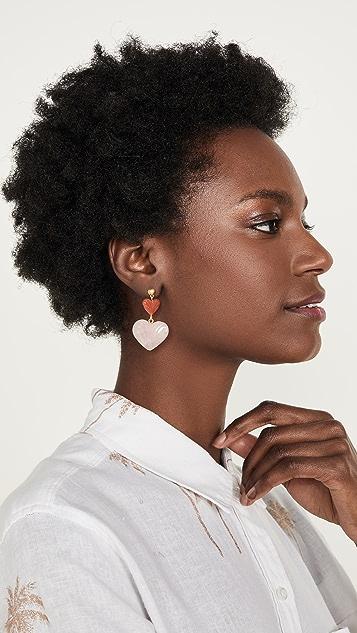 Madewell 模压心形耳环