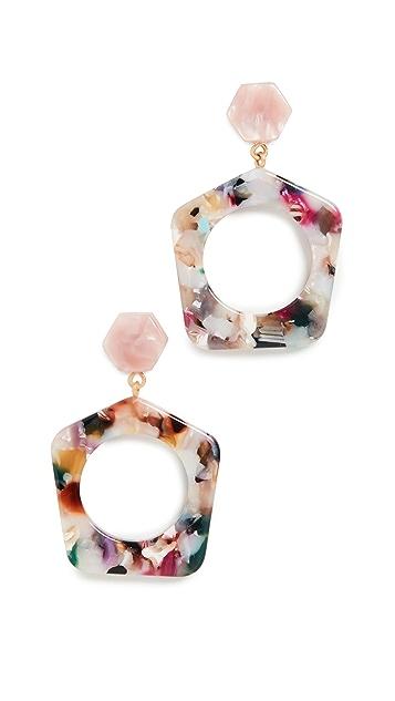 Madewell Geo Drop Earrings