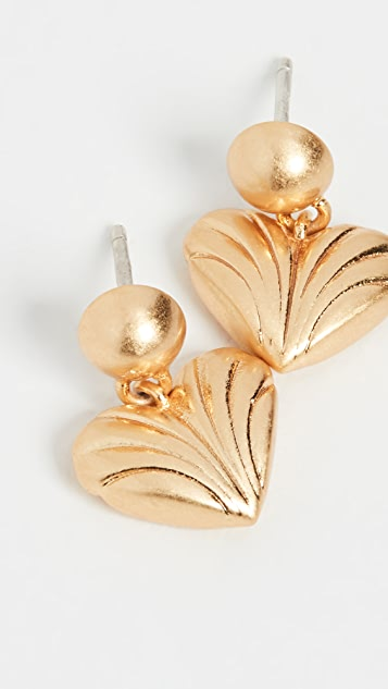 Madewell Moulded Heart Drop Studs
