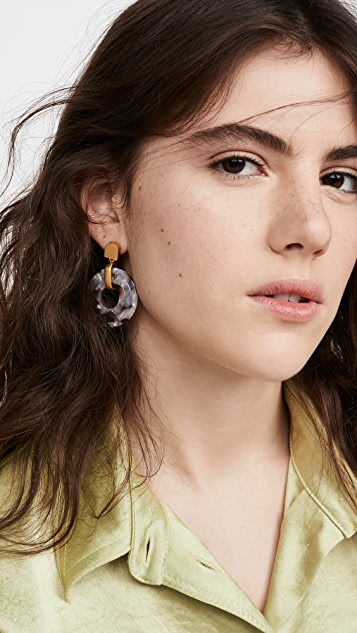 Madewell 3D Double Drop Earrings